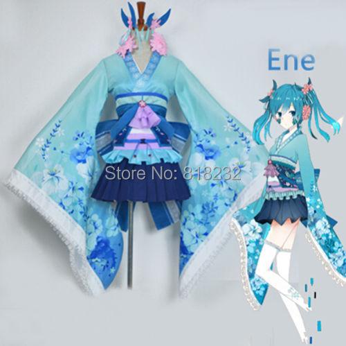 Kagerou projet Enomoto Kimono Yukata uniforme tenue de femme de chambre tenue tenue Anime Cosplay Costumes