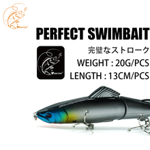 Купить с кэшбэком Thritop 2019 Fishing Wobblers Swimbait 20g 130mm 3 Different Colors High Quality Hooks Carp Bait New Lures Jerkbait For Fishing