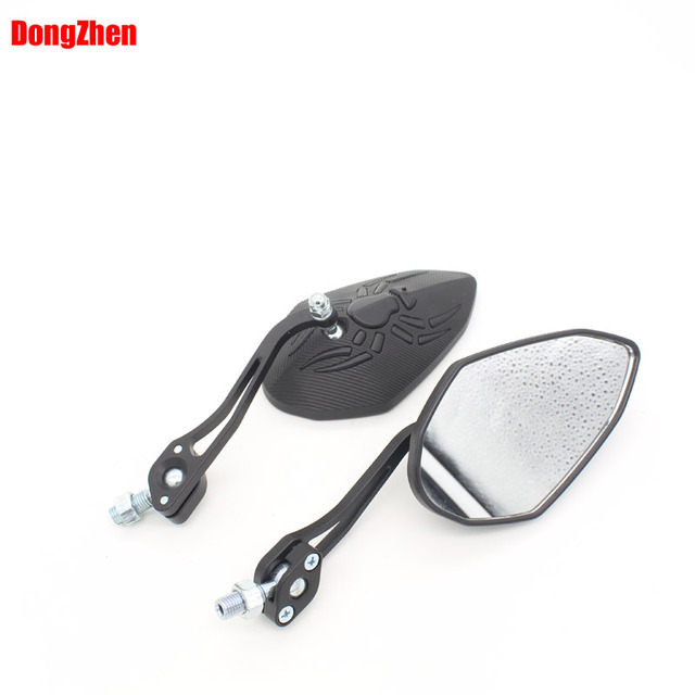 Hot High Quality CNC Aluninum Motorcycle Mirror moto Rearview Mirror square mirrors 8mm/10mm adapter
