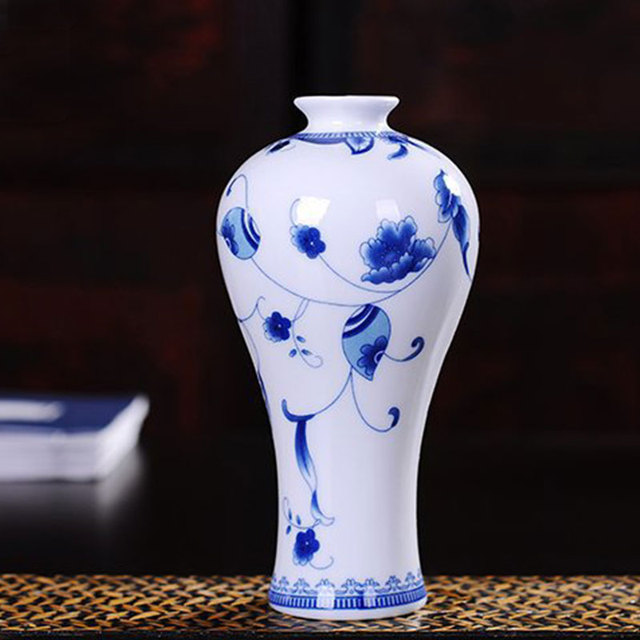 Vintage Ceramic Vase Terrarium Clic Plant Stand Decoration Flower Blue White Porcelain Container