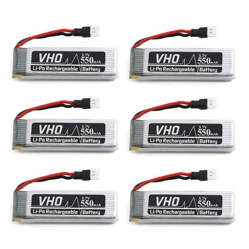VHO 6 PZ 550 mah 3.7 V batteria Lipo Per JJRC H37 Eachine E50 SYMA X5HC X5HW GoolRC T37 Wltoys V977 V930 V988 RC Drone parti