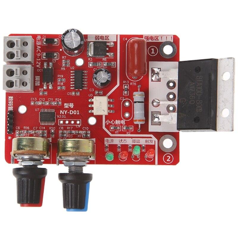 Placa de Controle do Tempo local Soldador 100A Atualização Atual Controlador com Display Digital