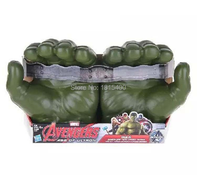 Cool Kids Toy Gifts Plastic Gloves From Marvel Movie The Avenger Super Heroes Hands Of Hulk Models Action Anime Figure Cosplay