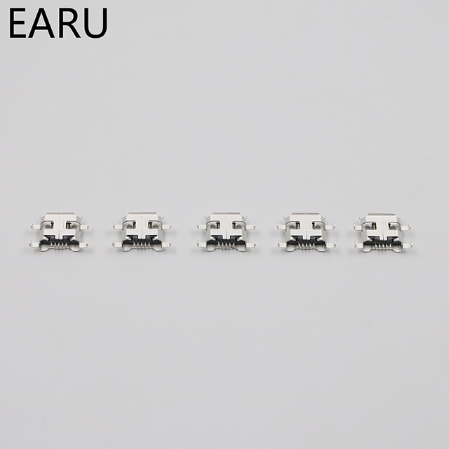 10pcs Micro USB 5pin B type 0.8mm Female Connector For Mobile Phone Mini USB Jack Connector 5pin Charging Socket Four feet plug