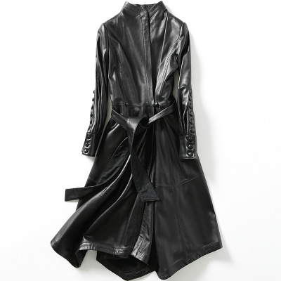 2018 New Fashion Genuine Sheep Leather   Trench   H23