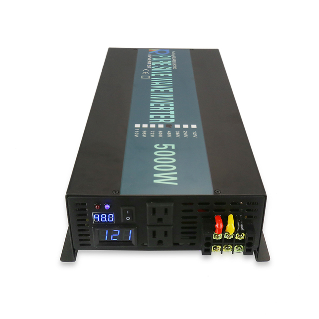 Hot Sale 5000W Solar Power Inverter 24V to 220V Pure Sine Wave Inverter 12V/24V/48V/72V DC to 120V/230V/240V AC Remote Control 5