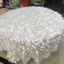 70 inch Petal Table Cloth & Leaves Wedding Custom 1pc