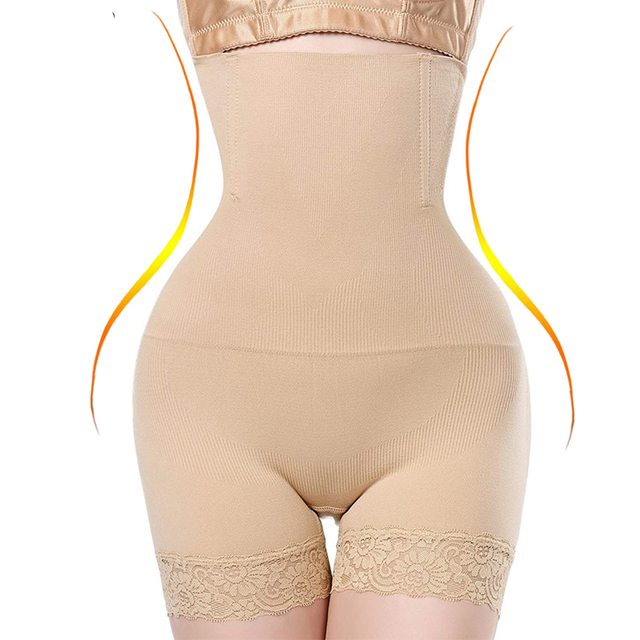0e4eb804fd NINGMI Women High Waist Body Shaper Boy Short Panties tummy Belly Control  Bodysuit Pant Shapewear Girdle Underwear Waist Trainer