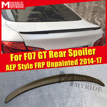 For BMW F07 GT Spoiler P Style Black Real FRP Unpainted Wings 5-series 535i 535iGT 535iGTXD 550GT Trunk 2014-17