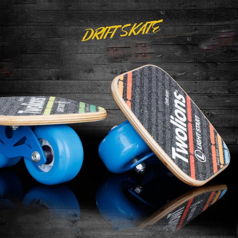 Twolions Wood Drift Board For Freeline Roller Road Drift Skates Antislip Skateboard Deck Freeline Skates Wakeboard