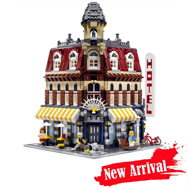 LEPIN 15002 2133Pcs Creators Cafe Corner Model Building Kits Blocks Bricks Toys for children Gifts compatible legoINGly 10182 конструктор lepin creators магазинчик на углу 3 в 1 491 дет 24007