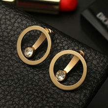 1 Pair High Quality Fashion Earrings Simple Circle Word Earring For Women Jewelries Accessory Valentine's Gift Earrings Bijoux(China)