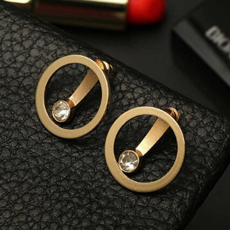 1 Pair High Quality Fashion Earrings Simple Circle Word Earring For Women Jewelries Accessory Valentine's Gift Earrings Bijoux