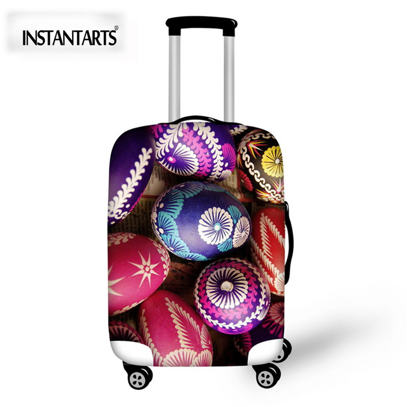 INSTANTARTS 3D Hand Painting Luggage Protective Covers For 18-30 Inch Suitcase Thick Stretch Luggage Trunk Case Dust Rain Cover