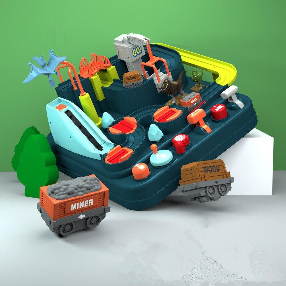 Nouvelles vente jouet jouets éducatifs pour enfants Train piste toboggan jouet dinosaure aventure costume voiture grande aventure amusant cadeau de noël
