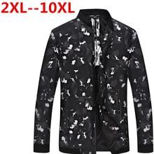 10XL 9XL 8XL 7XL 6XL 5XL 4X Spring Men's Jackets Solid Fashion Coats Male Casual Slim Stand Collar Jacket Men Outerdoor Overcoat