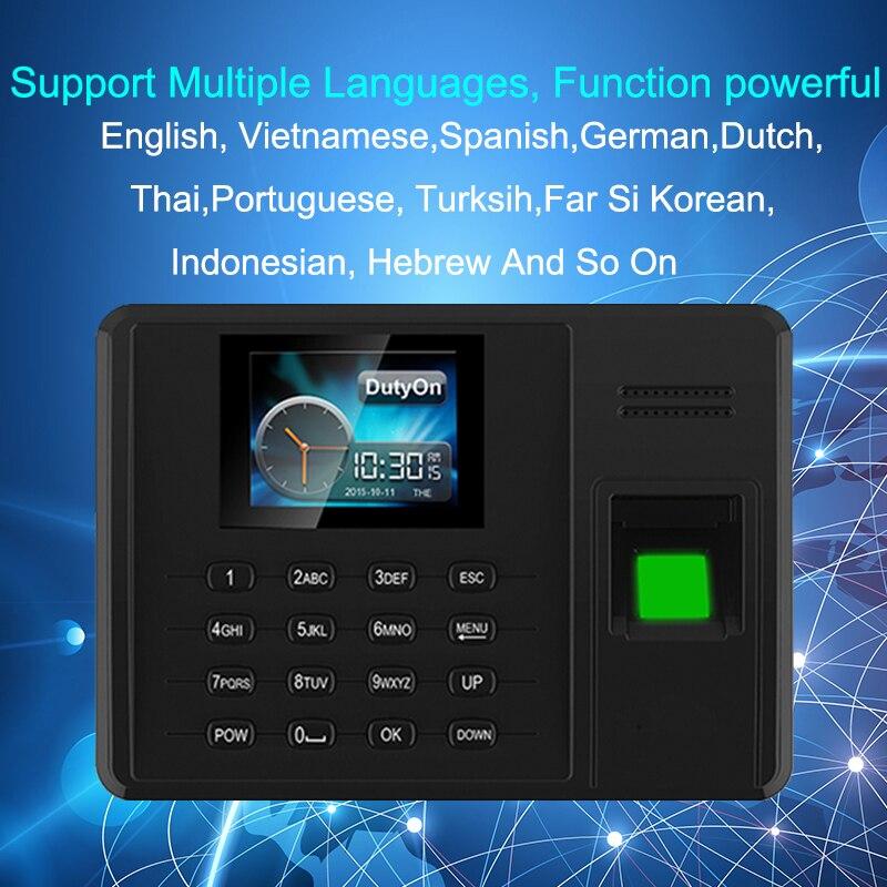 Système de présence Eseye empreinte digitale TCPIP USB mot de passe bureau horloge employé enregistreur dispositif biométrique temps de présence - 6