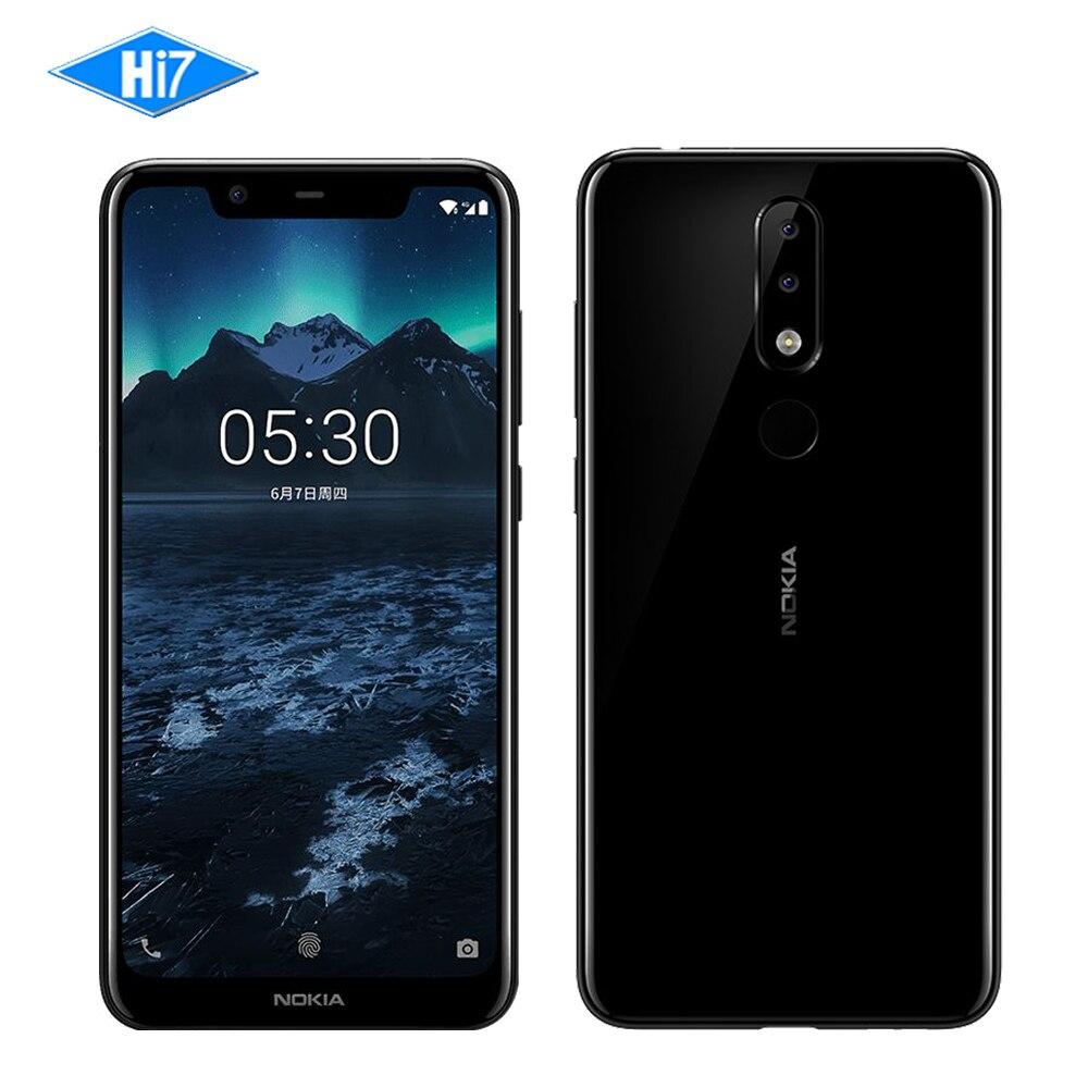 Nouveau Nokia X5 2018 3g RAM 32g ROM 3060 mah 3 Caméra Double Sim Android D'empreintes Digitales 5.86 octa Core LTE 4g Smart Mobile Téléphone NokiaX5