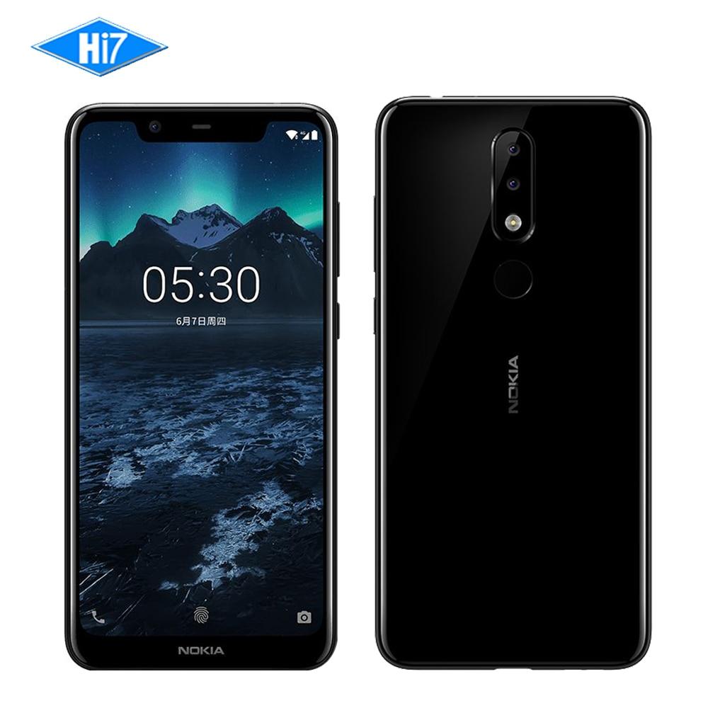 Nuovo Nokia X5 2018 3g di RAM 32g ROM 3060 mah 3 Fotocamera Dual Sim Android di Impronte Digitali 5.86