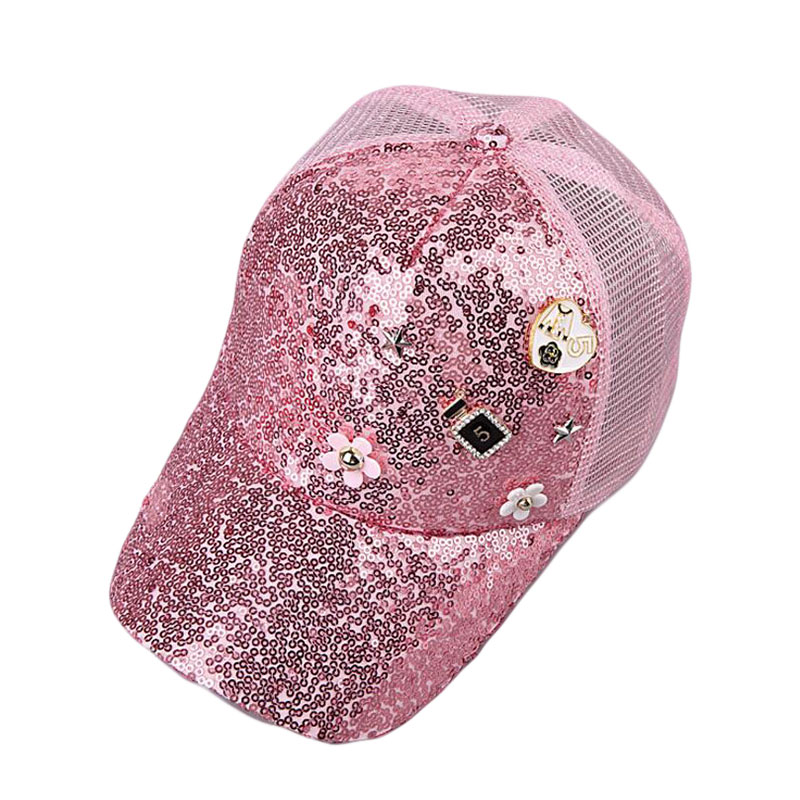 BINGYUANHAOXUAN Fashion Summer Mesh Hat Child Baseball Cap Snapback Hat For Boy Snapback Caps Bling Bling Hip Hop Hat Sun Cap