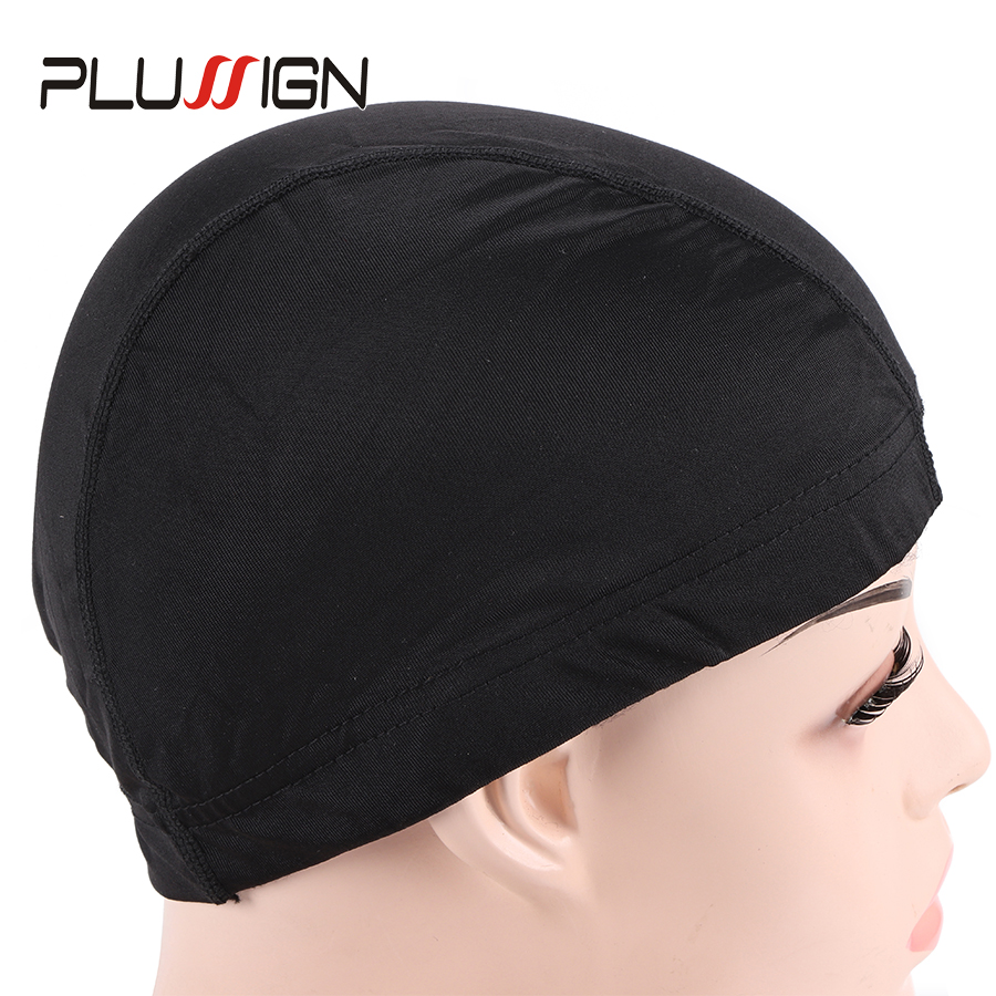 5Pcs Top Aliexpress Selling Dome Caps For Wig Making Weaving Cap Black Silk Wig Nets Stocking Caps Invisible Mesh Cap Free Size headpiece