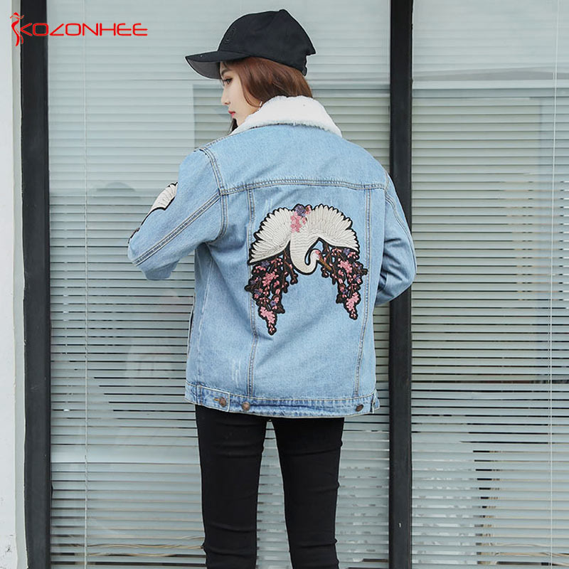 Frauen Winter Mäntel Übergroßen Windjacke Jeans Für Blau Denim Jacken 9093 Jacke Mädchen Und Kaschmir Freund xXZta