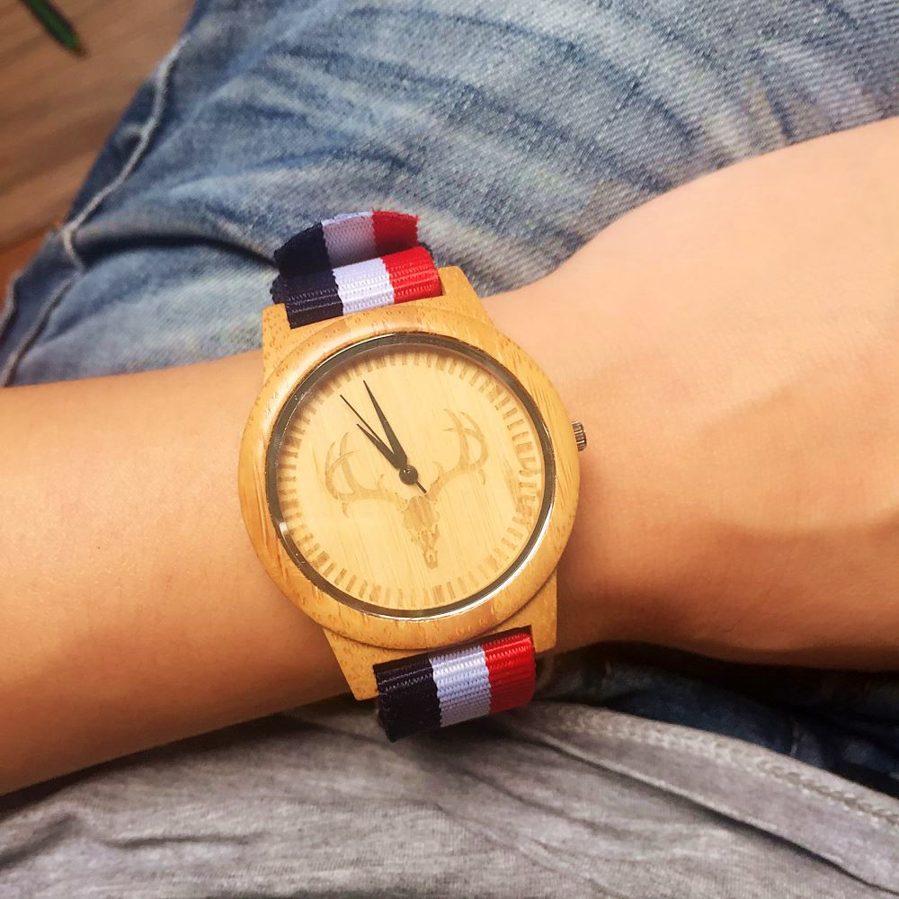 2016 New Arrival Wood Watch Mens Womens Designer Nylo
