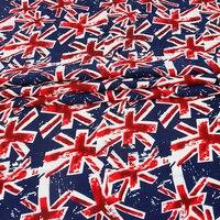 Хлопок, полиэстер холст Ткань Юнион Джек Британский флаг Великобритании с Ткань Главная Путешествия Постельное белье ткань DIY скатерть Што...