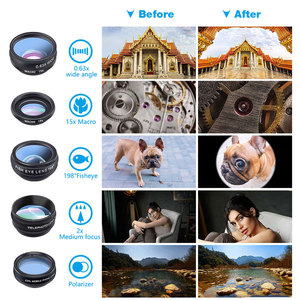 Image 5 - 10 in 1 Telefono Lenti Kit Fisheye Grandangolare Obiettivo Macro per Il Telefono Xiaomi Samsung Galaxy Android Telefoni