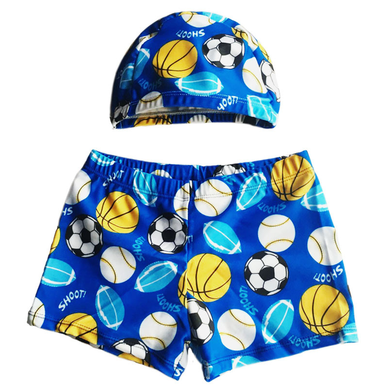 Baby Swimming Trunks For Toddler Boys Bathing Trunks With Cap Football Pattern Beach Shorts Hot Spring Pants Children SwimwearBaby Swimming Trunks For Toddler Boys Bathing Trunks With Cap Football Pattern Beach Shorts Hot Spring Pants Children Swimwear