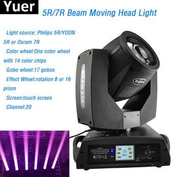 5R 200 W/7R 230W wiązki lampy z ruchomą głowicą YODN/OSRAM lampa z 17 gobo + 14 rodzajów kolorów dla profesjonalnej scenie światła dj-skie