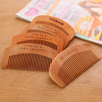 20PCS Natural Peach Portable Comb Anti Static Wooden Comb Massage Hairdressing Without Hurting The Scalp Handmade