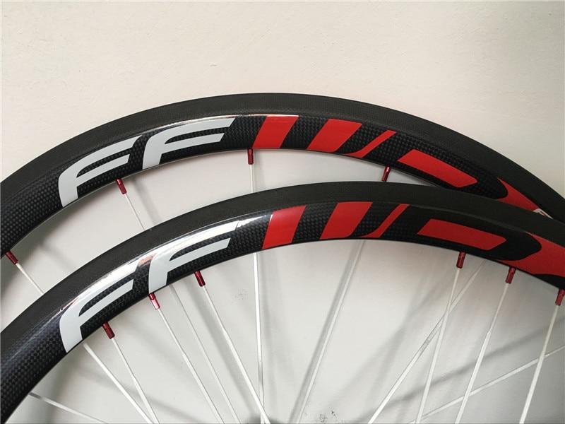 Carbon Bicycle Wheelset 700C 25mm Wide 38mm 50mm 60mm 88mm R36 Hub Road Bike Basalt Brake Surface Carbon Wheels