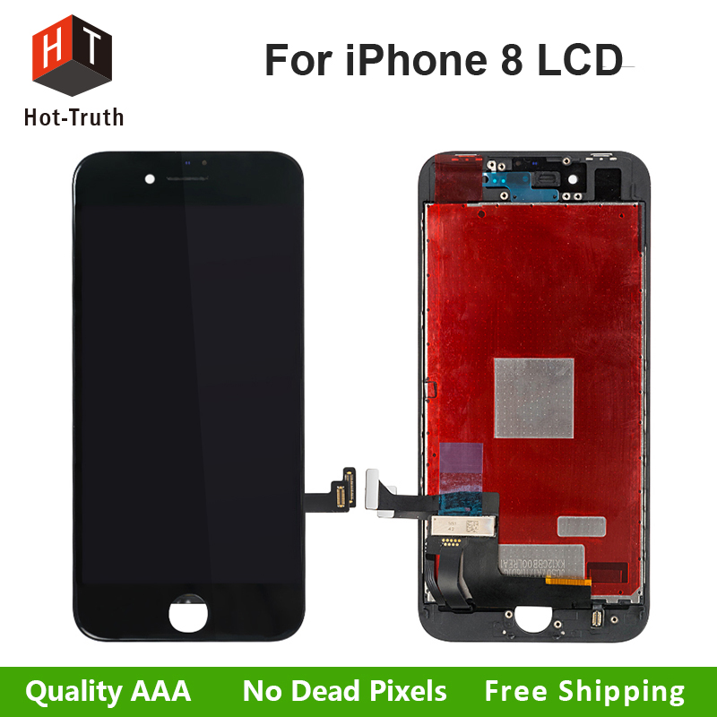 Hot-Truth Grade AAA+++Quality LCD Display For iPhone 8 Touch Screen Digitizer Assembly Replacement No Dead Pixel+Free shipping