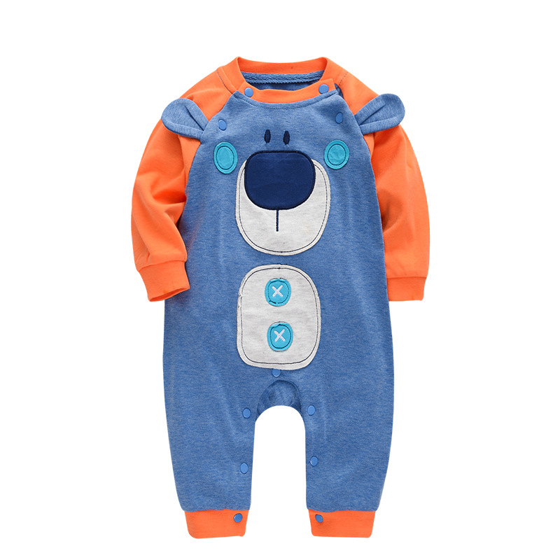 Fashion Cartoon Cow Baby Rompers Clothing Body Suit Newborn Long Sleeve Kids Girls Rompers Baby Clothes Roupa Infantil