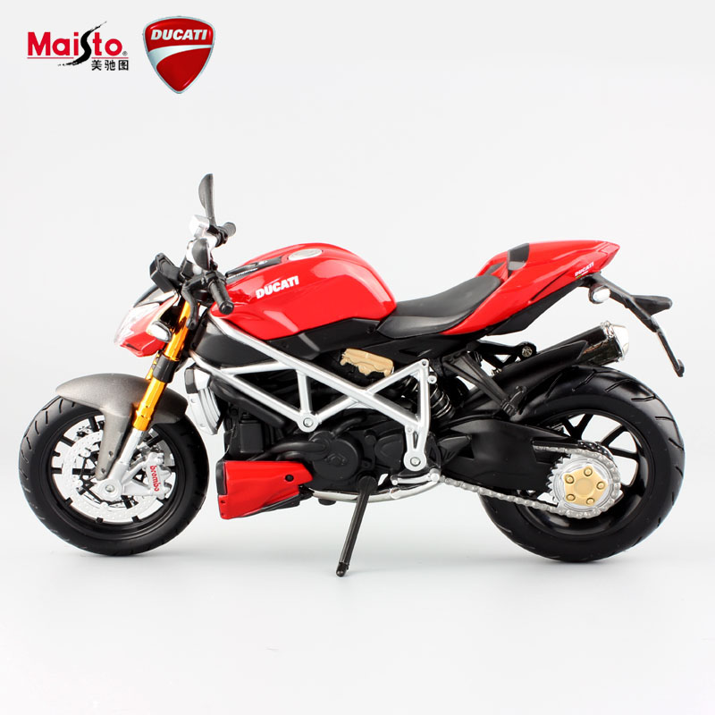 maisto 112 childrens red mod streetfighter s metal die cast models motorbike mini race
