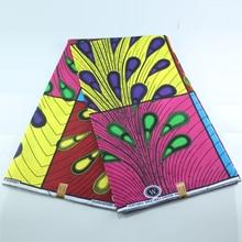Воск высокое качество хлопок африканская ткань для вечерние платья Лидер продаж дизайн