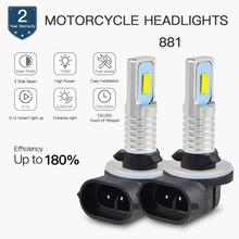 Bevinsee Motorcycle LED Headlight Bulbs New CSP 6500K Pure White Lamps For POLARIS Ranger 400 500 570 700 800 ETX EV XP