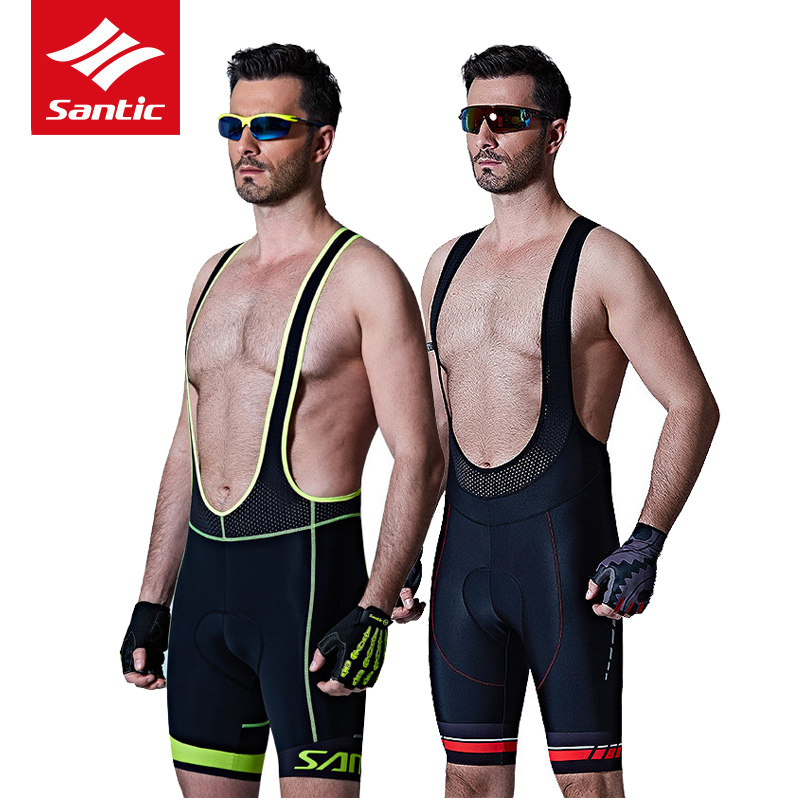 Santic Men Cycling Bib Shorts Pro Italian Imported Pad Mountain Road Bike Bib Shorts Riding Bicycle Bib Shorts Bermuda Ciclismo pro cycling bib shorts italian 4d pad quick dry breathable shorts downhill mtb mountain road bike bicycle bib shorts asian size