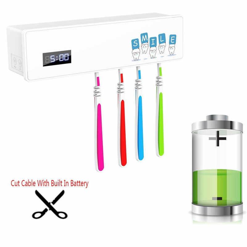 Światło UV uchwyt na szczoteczkę do zębów sterylizator ultrafioletowe antybakteryjne szczoteczka do czyszczenia pasty do zębów D