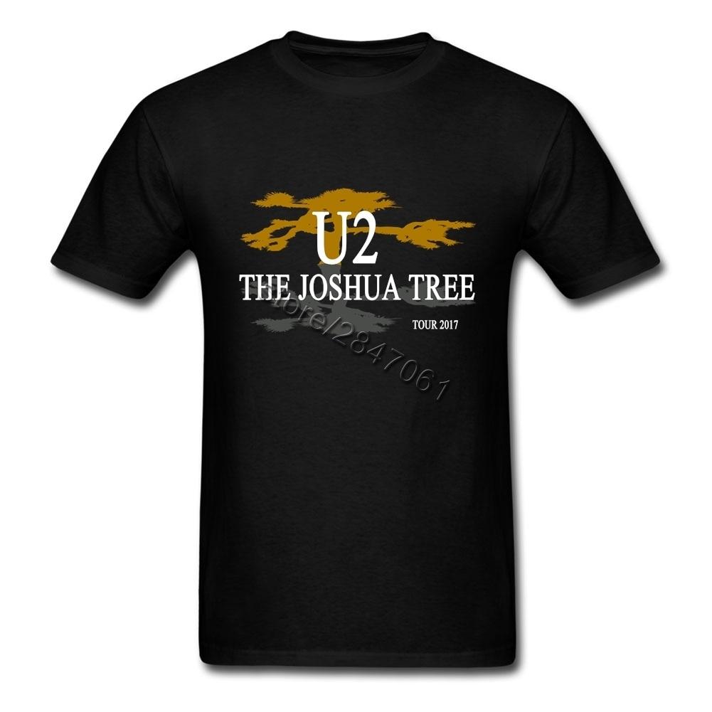 Modis U2 Joshua Pohon 30th Anniversary 2017 Dunia Concert Tour Kaus Terbaik Pria Wanita Tali Inggris Retro Short lengan Kaus-Internasional