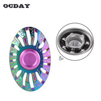 OCDAY Tri Fidget Spinner Hand Spinner Metal EDC Colorful Rainbow Spiner Anti Stress Relief Toys Top