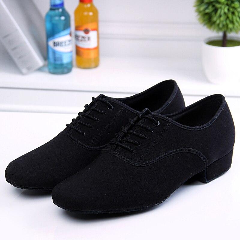 Men s Latin Ballroom Dance font b Shoes b font Professional Black Canvas Latin font b