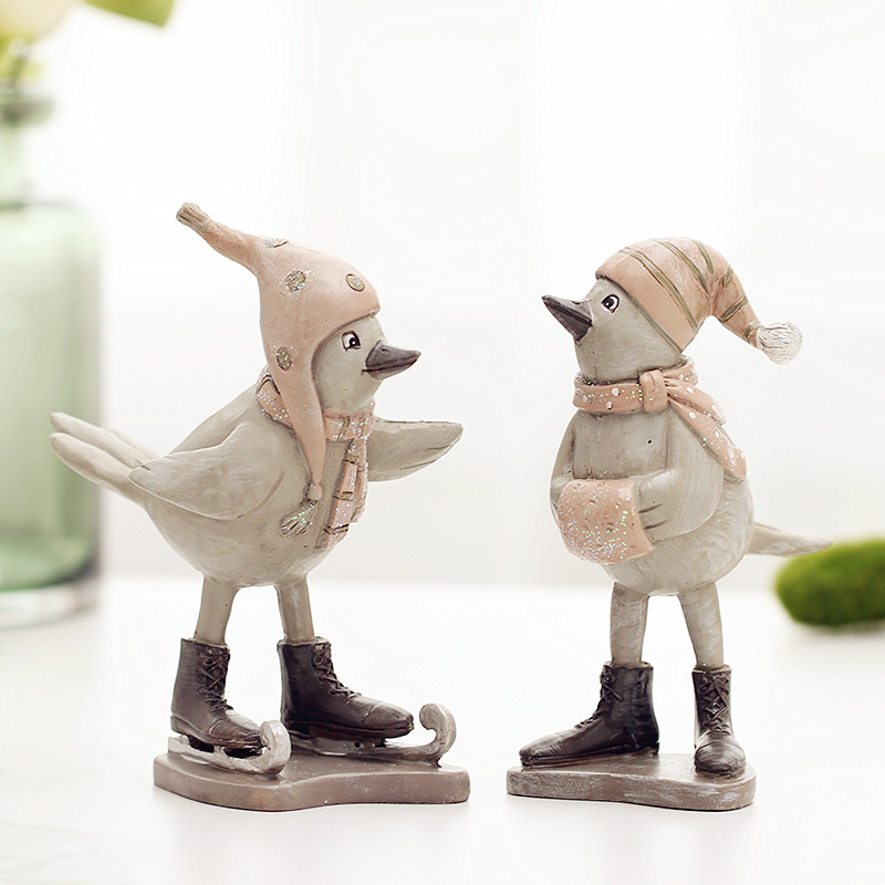 Europe style minimalist resin bird ornaments living room bedroom TV cabinet furnishings creative gifts home decor furnishings in Figurines Miniatures from Home Garden