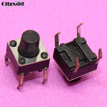 Cltgxdd 1 ~ 500 piezas 4pin 6X6X7mm mini interruptor interruptor de tacto pulsador 6*6*7mm 4 pines(China)