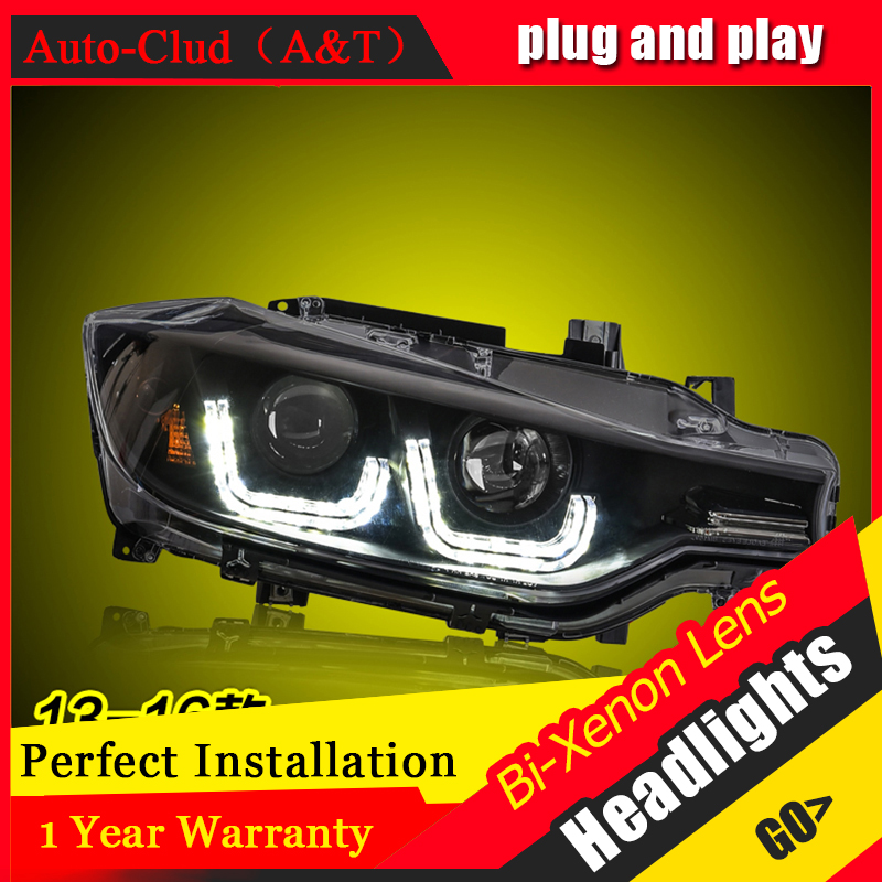 Car Styling For 3 Series F30 led headlights 2013-16 For F30 head lamp Angel eye led DRL front light Bi-Xenon Lens xenon HID KIT car styling for chevrolet trax led headlights for trax head lamp angel eye led front light bi xenon lens xenon hid kit