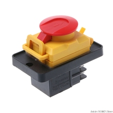 KJD12 250V 4Pin Waterproof Magnetic Start Stop No Volt Release Pushbutton Switch Dropship
