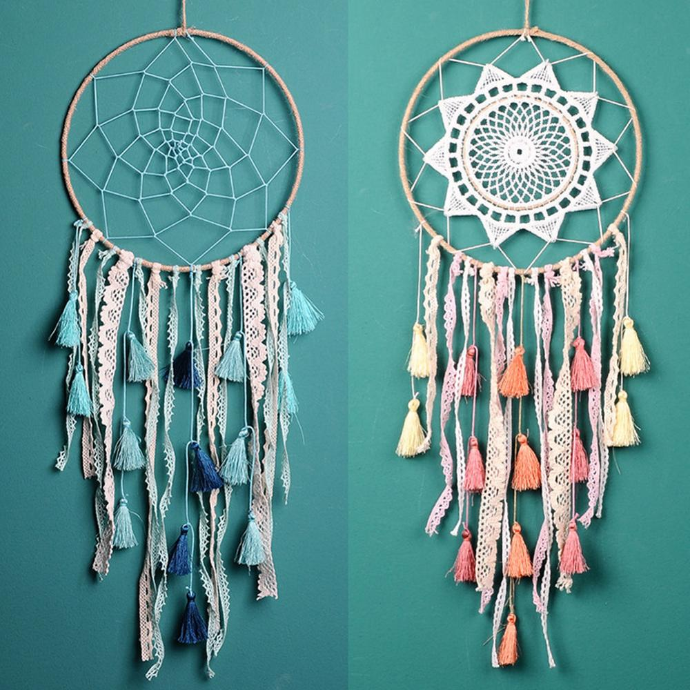 Nordic Tassel Dream Catcher Room Decoration  Bedroom Decor Girls Room Decor Pink Blue White  Gift For Women
