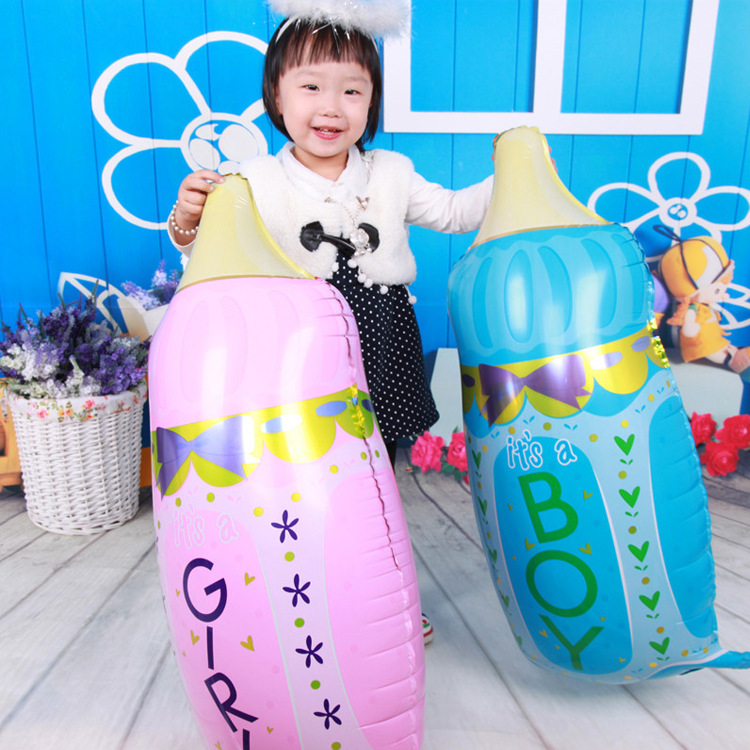 VIPOINT PARTY 80x44cm pink blue feeding bottle foil balloons wedding event christmas halloween festival birthday party HY 34 in Ballons Accessories from Home Garden