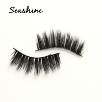 10 pairs 100% handmade real mink fur false eyelash 3D strip mink lashes thick fake faux eyelashes Makeup beauty False Eyelashes